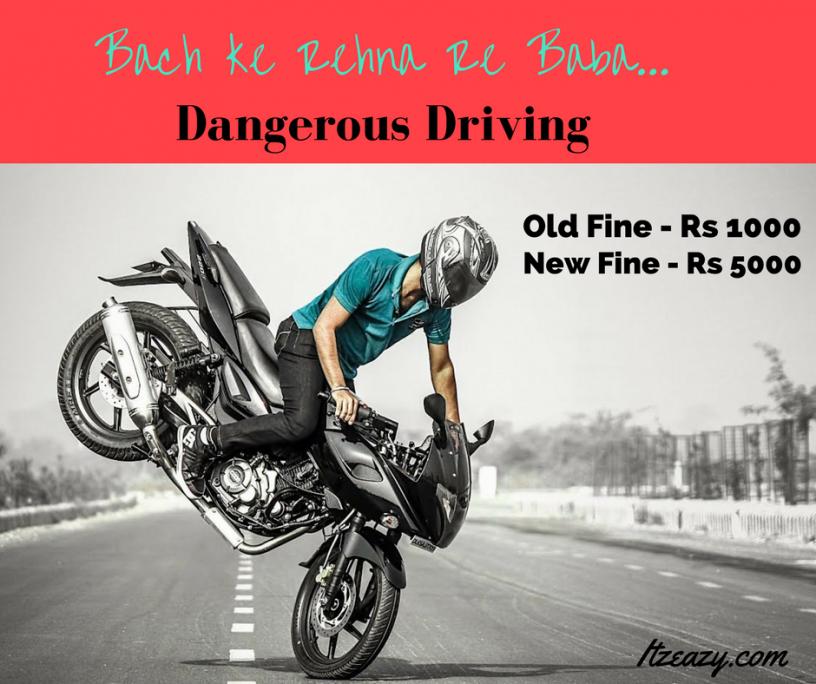 Dangerous driving fine