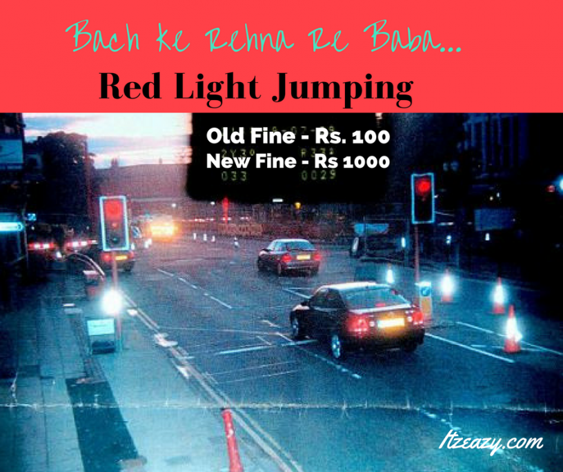 fine for red light jumping increased