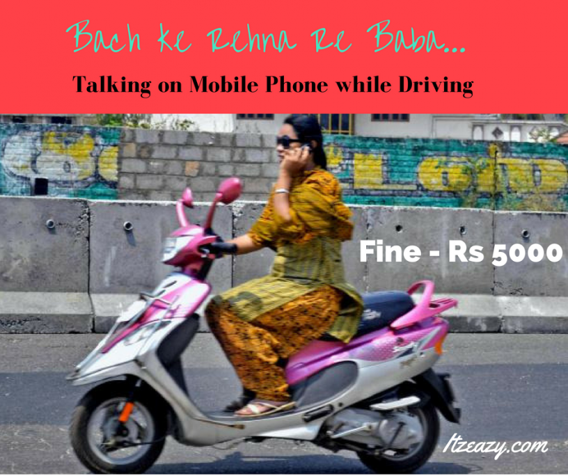 Fine for talking on mobile phone while driving