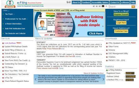 pan card link aadhar card