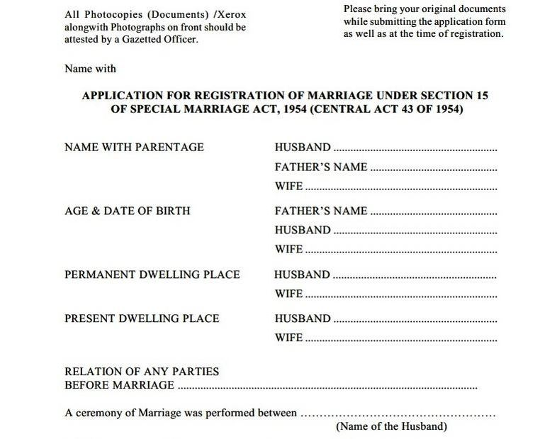 Marriage certificate online in pune marriage registration in pune samples of marriage registration application form yadclub Gallery