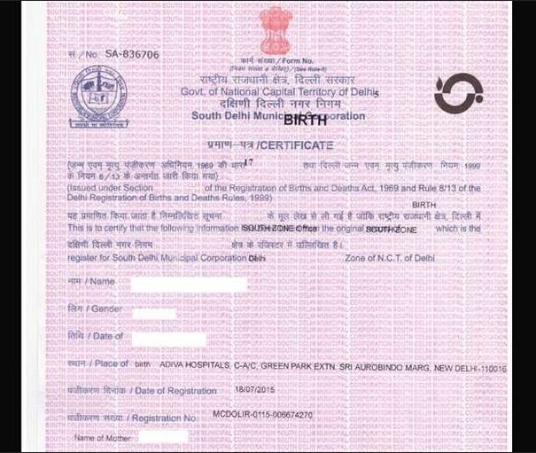 Birth Certificate In Delhi  Apply For Birth Certificate Online In Delhi